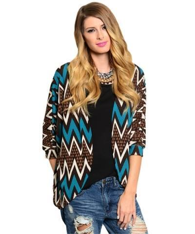 We love this chevron cardigan! Comfy and adds style to any outfit!